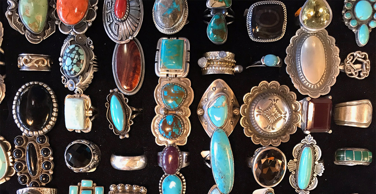 Turquoise jewelry at Buffalo Trading Post