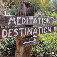 Meditation destination and nature trail at Cat Mountain Lodge B&B