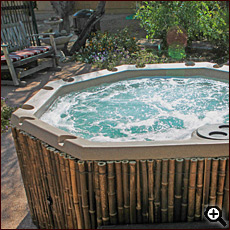 Hot tub at Cat Mountain Lodge B&B