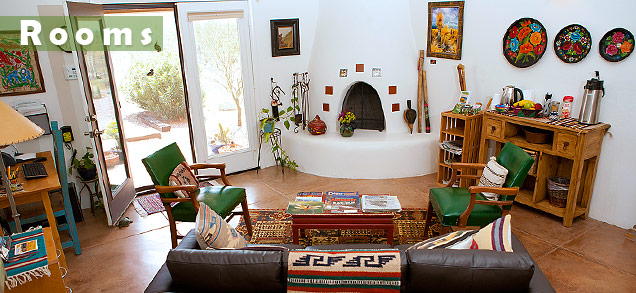 Room Rates at Cat Mountain Lodge B&B, The Arizona Room common area